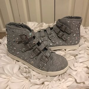 Justice Girls Grey Sneakers Size 5